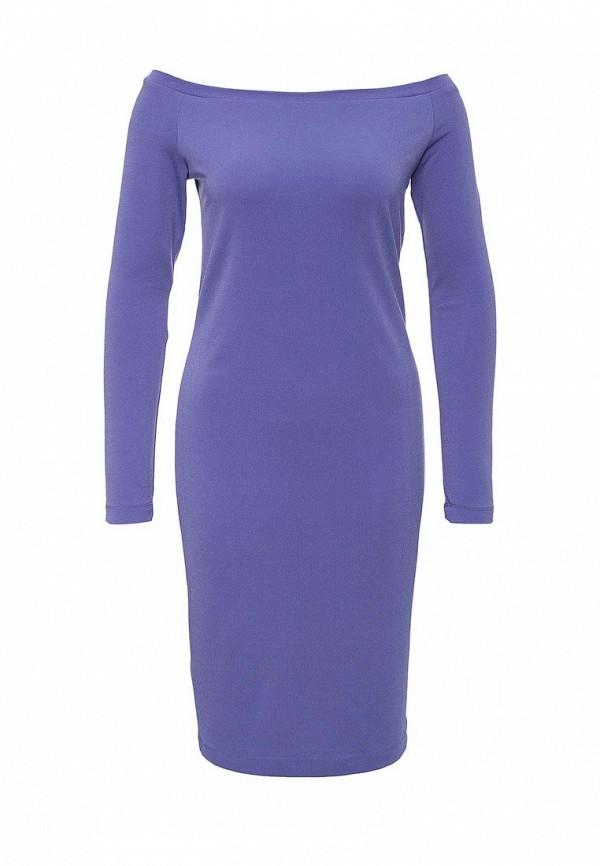 Платье-миди A-A by Ksenia Avakyan 18w11-фиолетовый: изображение 1