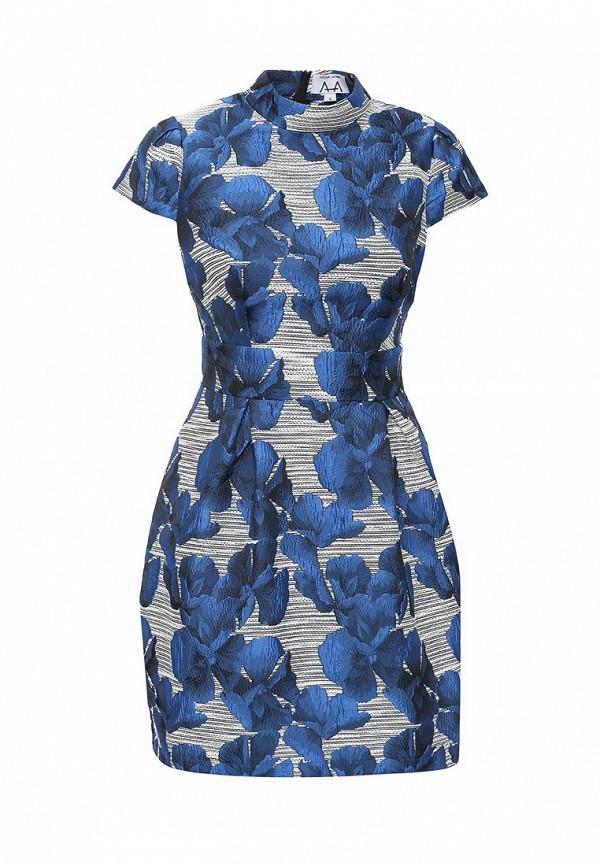Платье-мини A-A by Ksenia Avakyan 3cps11-синий: изображение 2