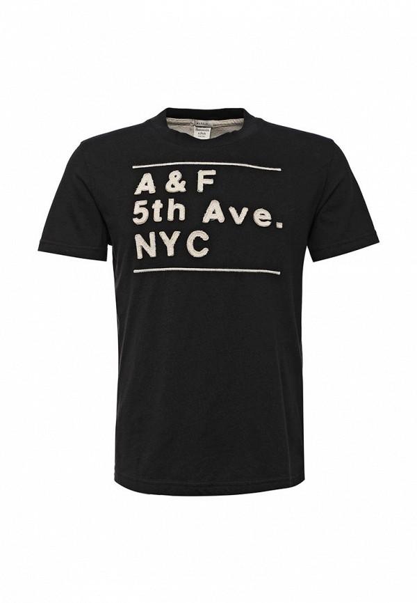 Футболка с надписями Abercrombie & Fitch 123-238-1902-091