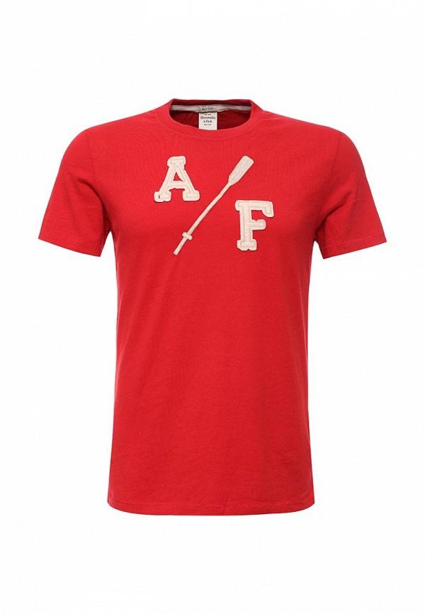 Футболка с надписями Abercrombie & Fitch 123-238-1905-050
