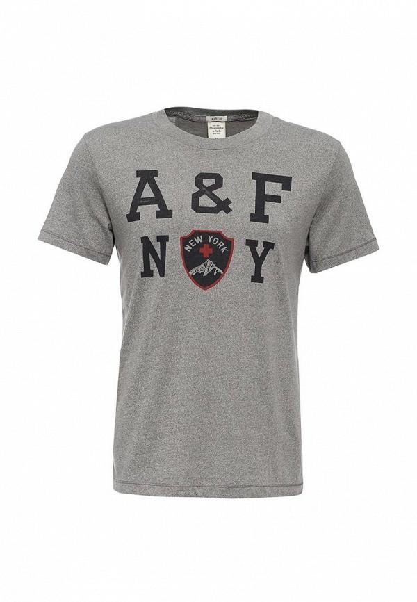 Футболка с надписями Abercrombie & Fitch DXX01C020021