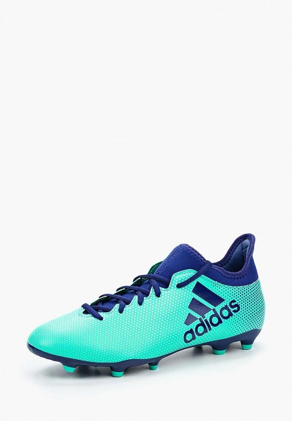 Купить Бутсы adidas, adidas AD002AMALVK6, зеленый, Весна-лето 2018