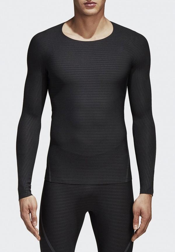 Купить Лонгслив спортивный adidas, adidas AD002EMAMBB7, черный, Весна-лето 2018