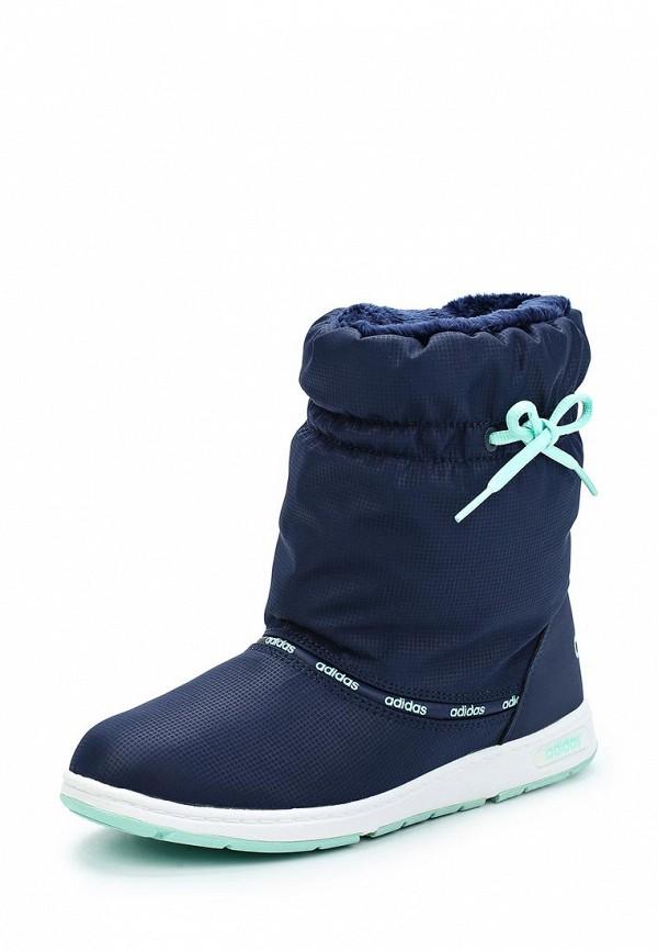 Дутики adidas Neo. Цвет: синий