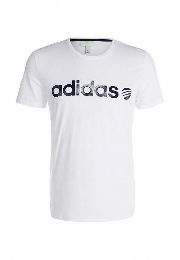 Футболка с надписями Adidas Neo (Адидас Нео) AB8682: изображение 1