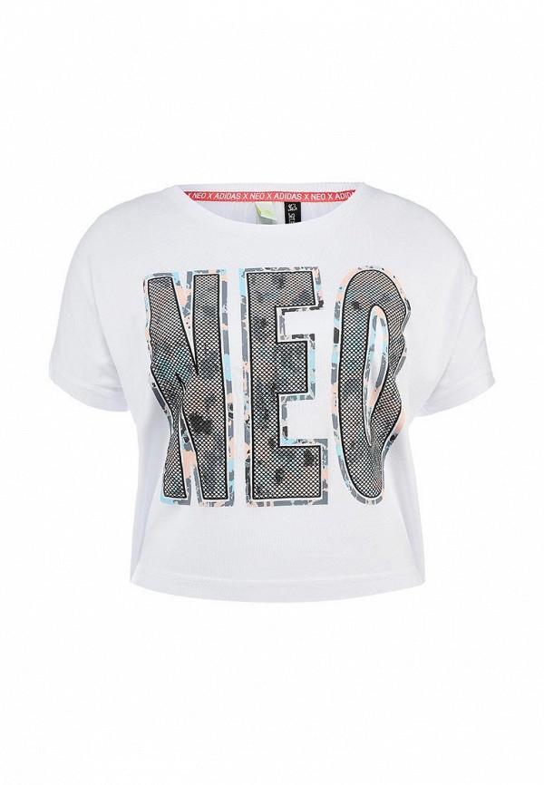Футболка с надписями Adidas Neo (Адидас Нео) AC6033: изображение 1