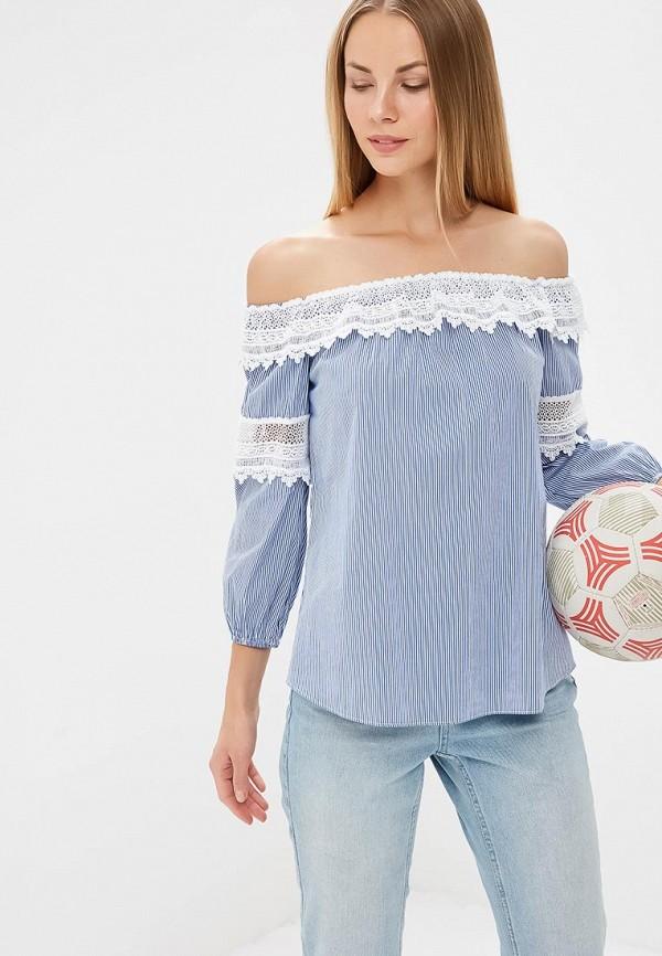 Блуза adL, adL AD005EWBCSZ3, синий, Весна-лето 2018  - купить со скидкой