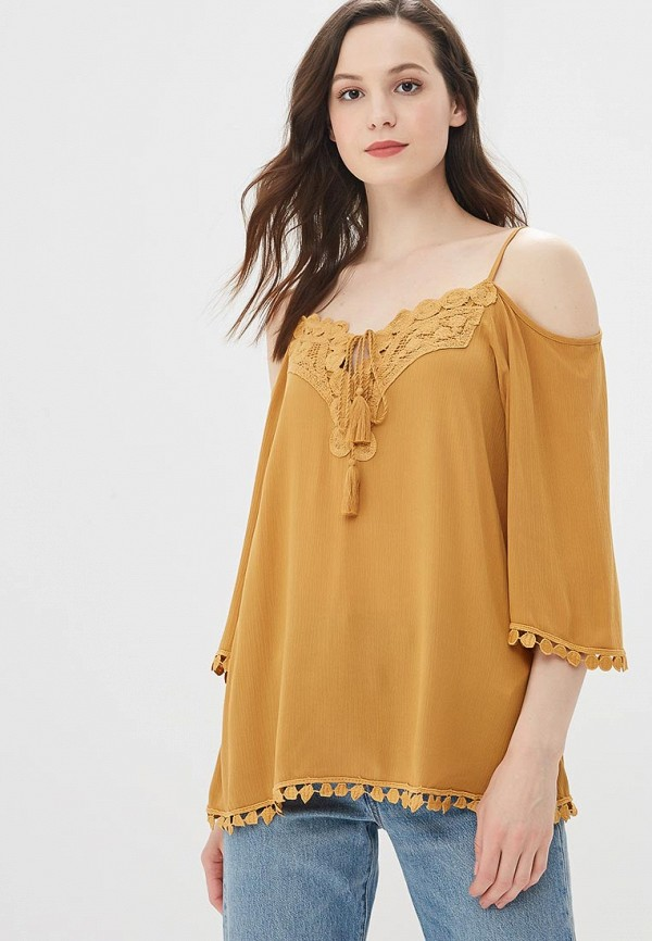 Купить Блуза adL, adL AD005EWBCTA1, коричневый, Весна-лето 2018