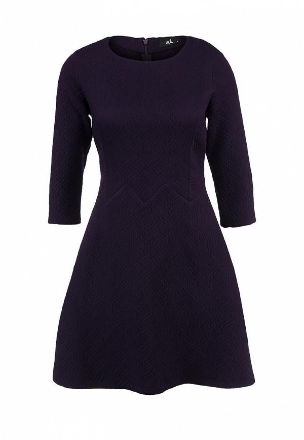 Фиолетовое фактурное платье adL