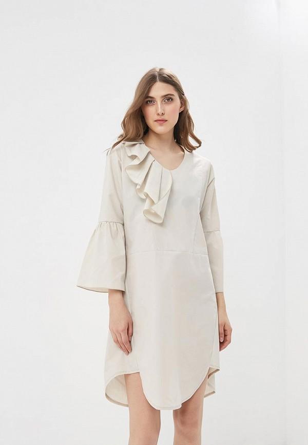 Купить Платье Adzhedo, Adzhedo AD016EWBJWJ8, бежевый, Весна-лето 2018
