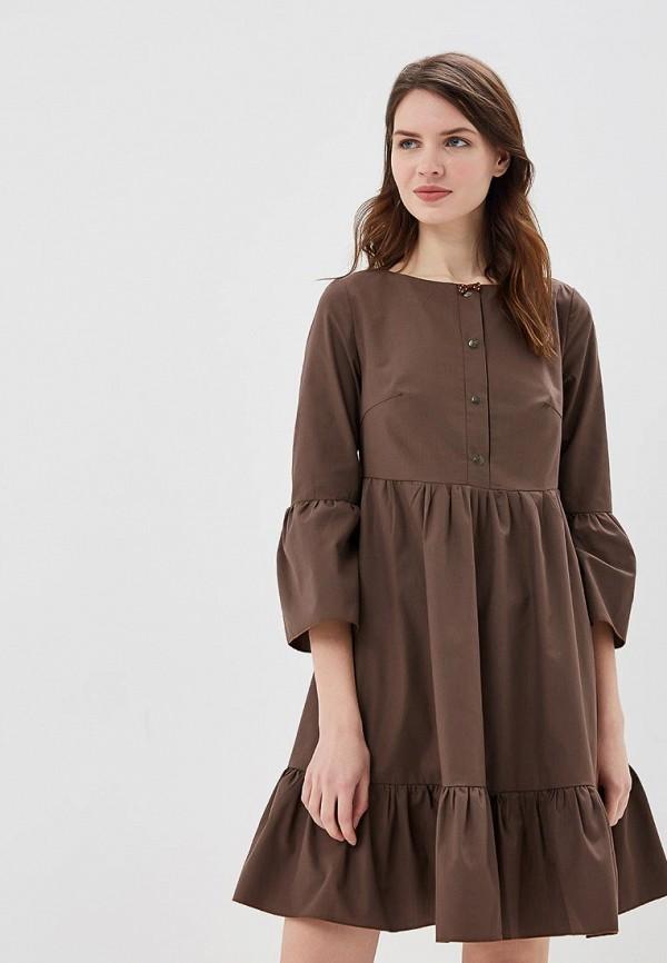 Купить Платье Adzhedo, Adzhedo AD016EWBMEI9, коричневый, Весна-лето 2018