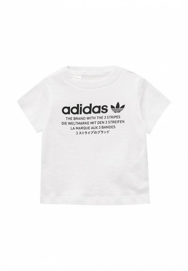 Футболка adidas OriginalsФутболка adidas Originals. Цвет: белый. Сезон: Осень-зима 2017/2018. С бесплатной доставкой и примеркой на Lamoda.<br><br>Цвет: белый<br>Коллекция: Осень-зима 2017/2018<br>Сезонность: мульти<br>Страна-изготовитель: Шри-Ланка<br>Пол: boys