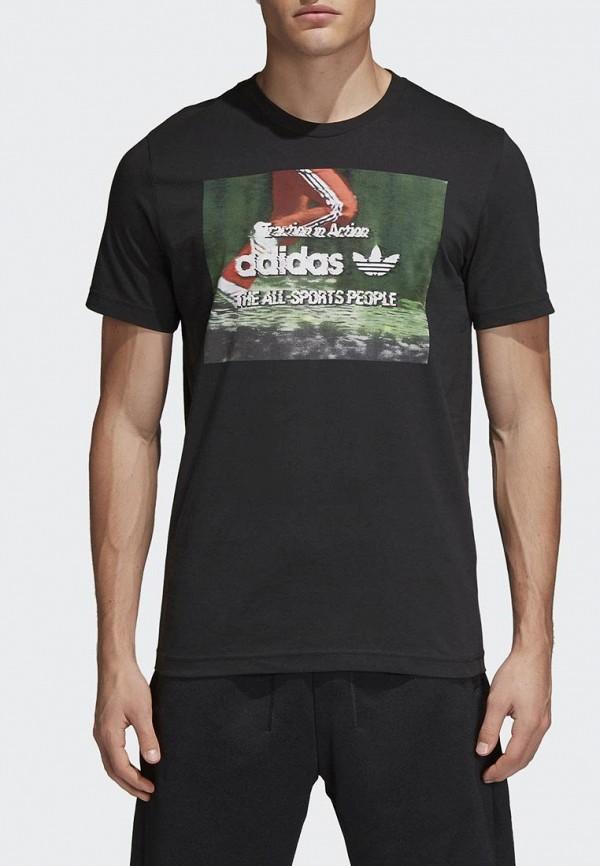 Купить Футболка adidas Originals, adidas Originals AD093EMALOE5, черный, Весна-лето 2018