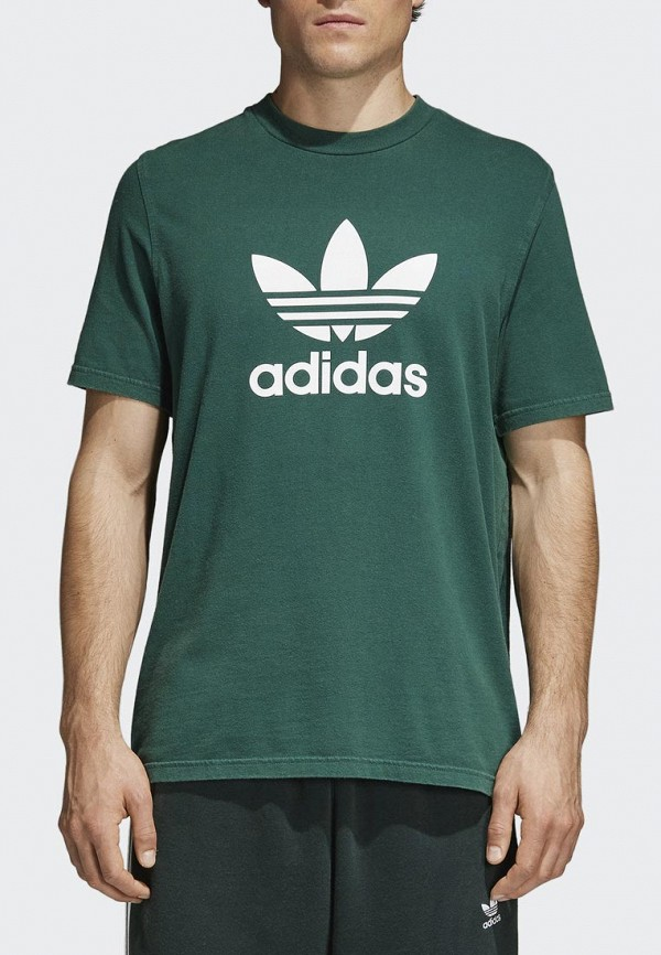 Купить Футболка adidas Originals, adidas Originals AD093EMALOG4, зеленый, Весна-лето 2018
