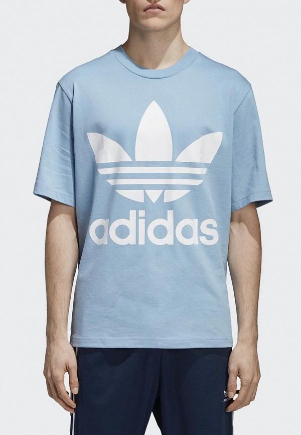 Купить Футболка adidas Originals, adidas Originals AD093EMALOH3, голубой, Весна-лето 2018