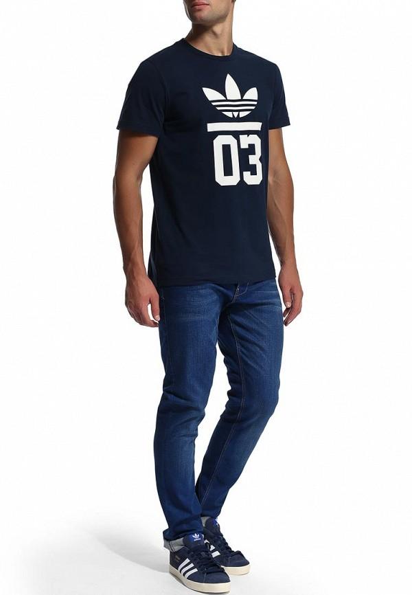 Футболка с надписями Adidas Originals (Адидас Ориджиналс) M30250: изображение 5
