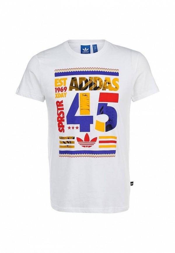 Футболка с надписями Adidas Originals (Адидас Ориджиналс) S19077: изображение 1