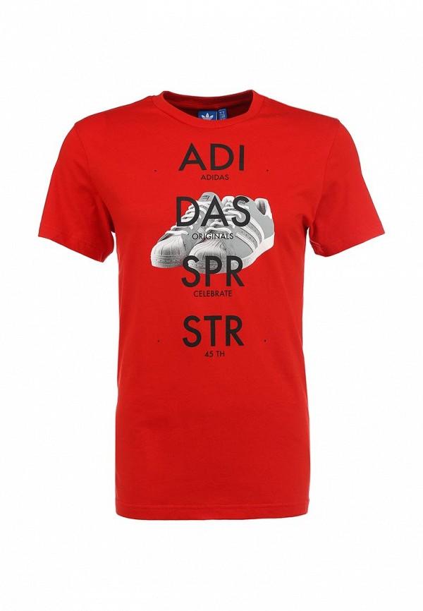 Футболка с надписями Adidas Originals (Адидас Ориджиналс) S19180: изображение 1