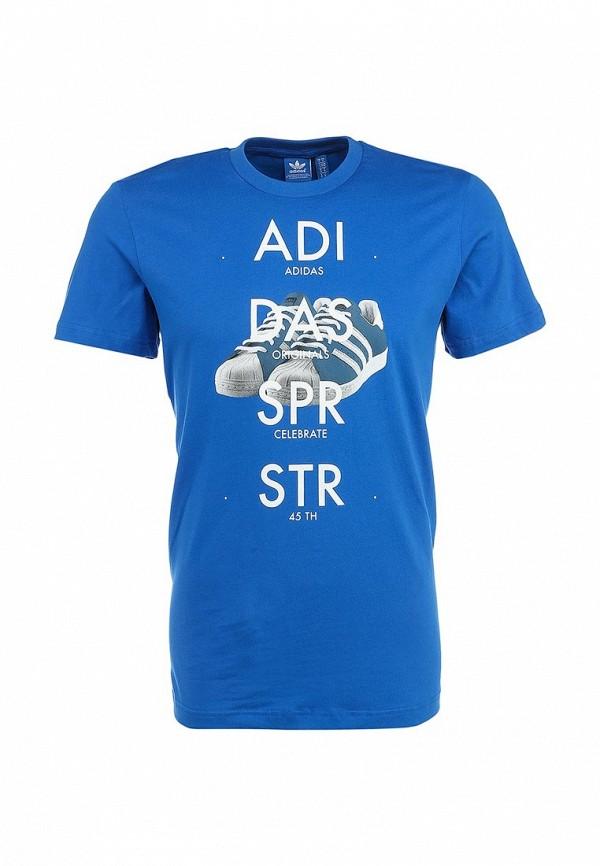 Футболка с надписями Adidas Originals (Адидас Ориджиналс) S19181: изображение 2