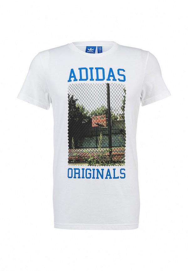 Футболка с надписями Adidas Originals (Адидас Ориджиналс) S19210: изображение 1