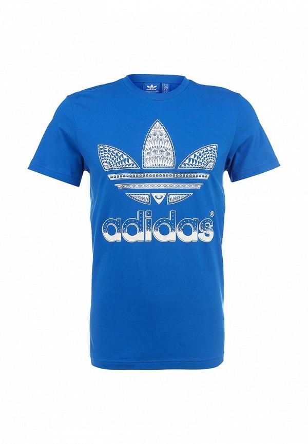 Футболка с надписями Adidas Originals (Адидас Ориджиналс) S19233: изображение 1