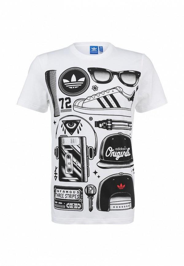 Футболка с надписями Adidas Originals (Адидас Ориджиналс) S19315: изображение 1