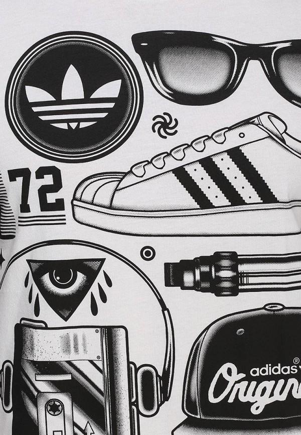 Футболка с надписями Adidas Originals (Адидас Ориджиналс) S19315: изображение 2