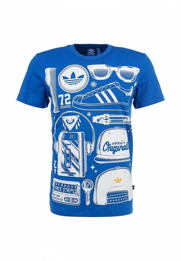 Футболка с надписями Adidas Originals (Адидас Ориджиналс) S19317: изображение 1