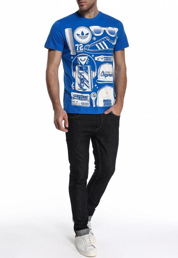 Футболка с надписями Adidas Originals (Адидас Ориджиналс) S19317: изображение 3