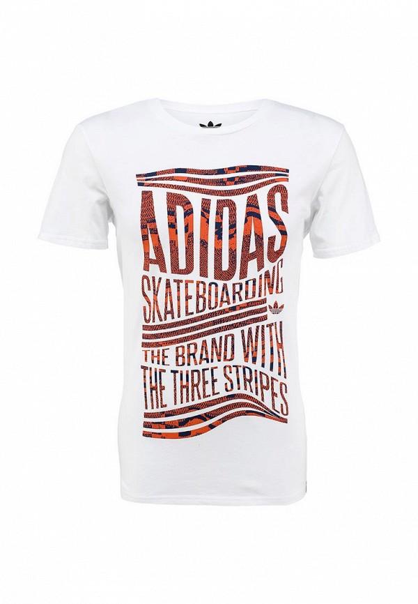 Футболка с надписями Adidas Originals (Адидас Ориджиналс) S23466: изображение 2