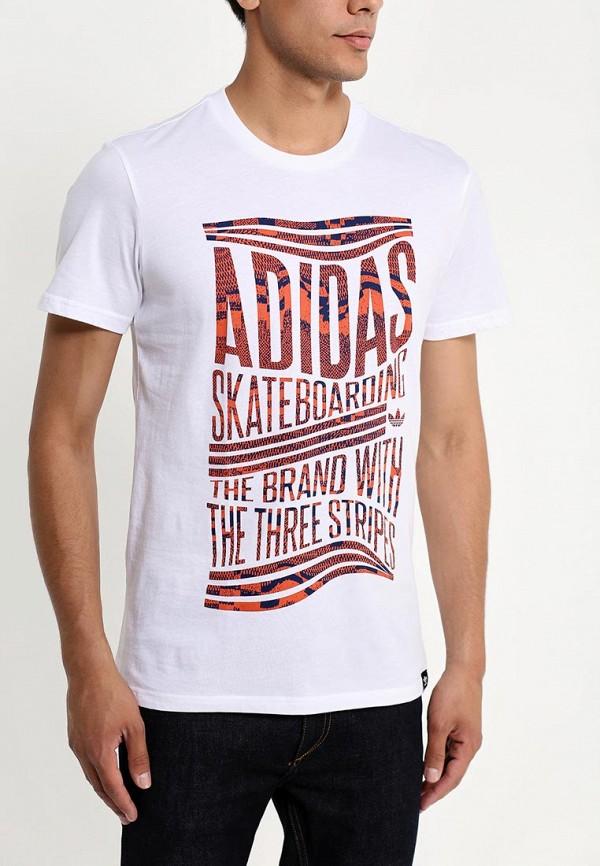 Футболка с надписями Adidas Originals (Адидас Ориджиналс) S23466: изображение 3