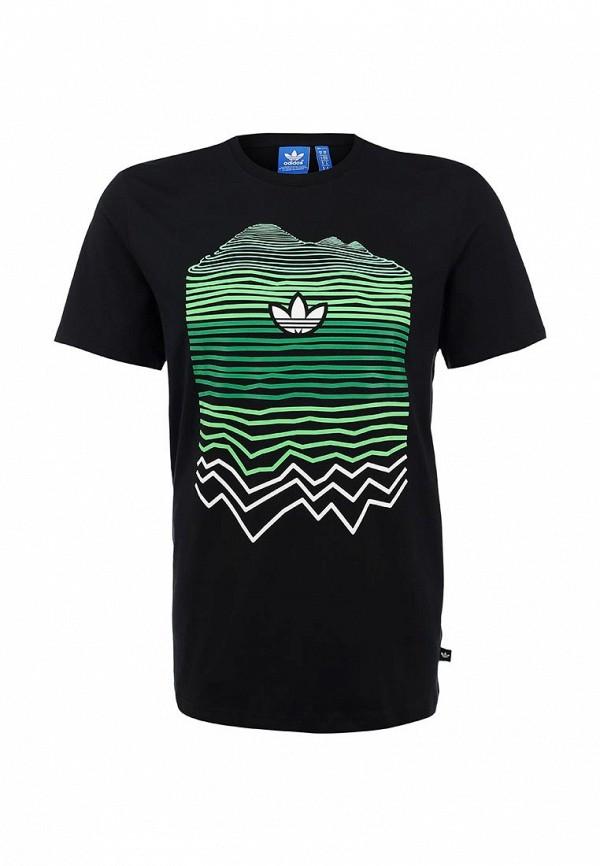 Футболка с надписями Adidas Originals (Адидас Ориджиналс) AB9541: изображение 1