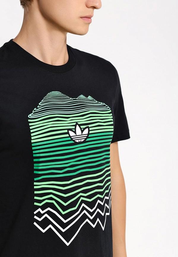 Футболка с надписями Adidas Originals (Адидас Ориджиналс) AB9541: изображение 2