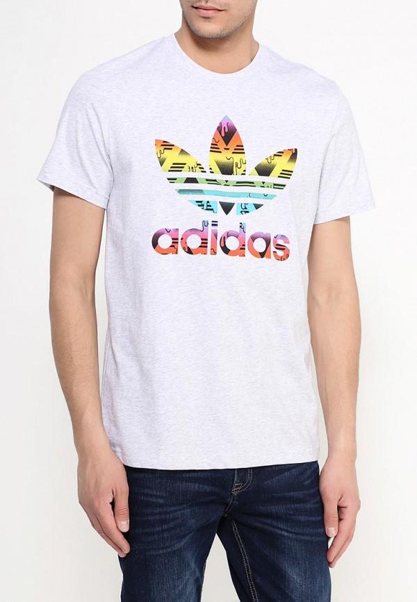 Футболка с надписями Adidas Originals (Адидас Ориджиналс) AJ6920: изображение 3