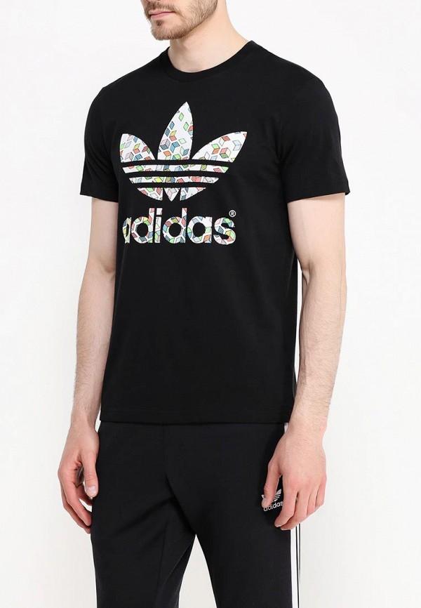 Футболка с надписями Adidas Originals (Адидас Ориджиналс) AJ7108: изображение 3