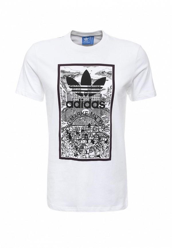Футболка с надписями Adidas Originals (Адидас Ориджиналс) AJ7141: изображение 1