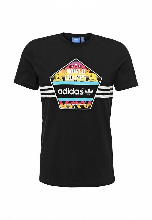Футболка с надписями Adidas Originals (Адидас Ориджиналс) AJ7155: изображение 1