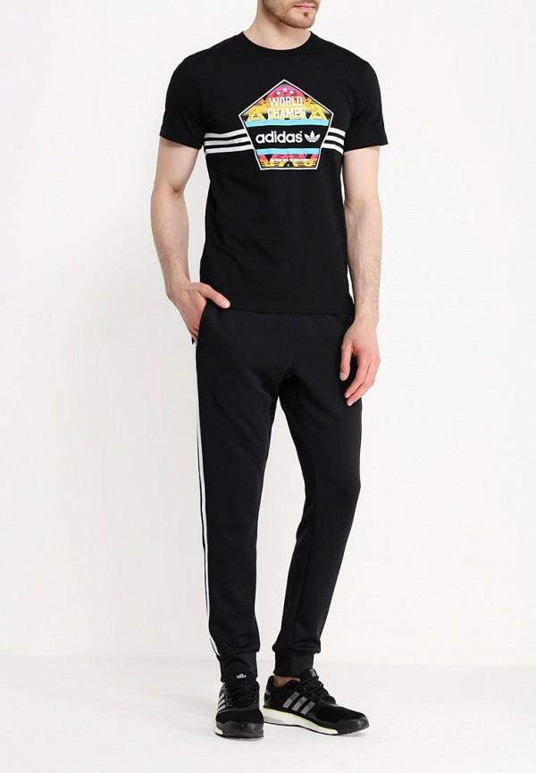Футболка с надписями Adidas Originals (Адидас Ориджиналс) AJ7155: изображение 2