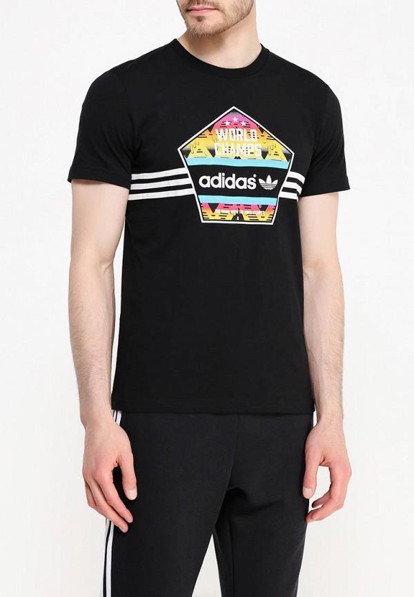 Футболка с надписями Adidas Originals (Адидас Ориджиналс) AJ7155: изображение 3