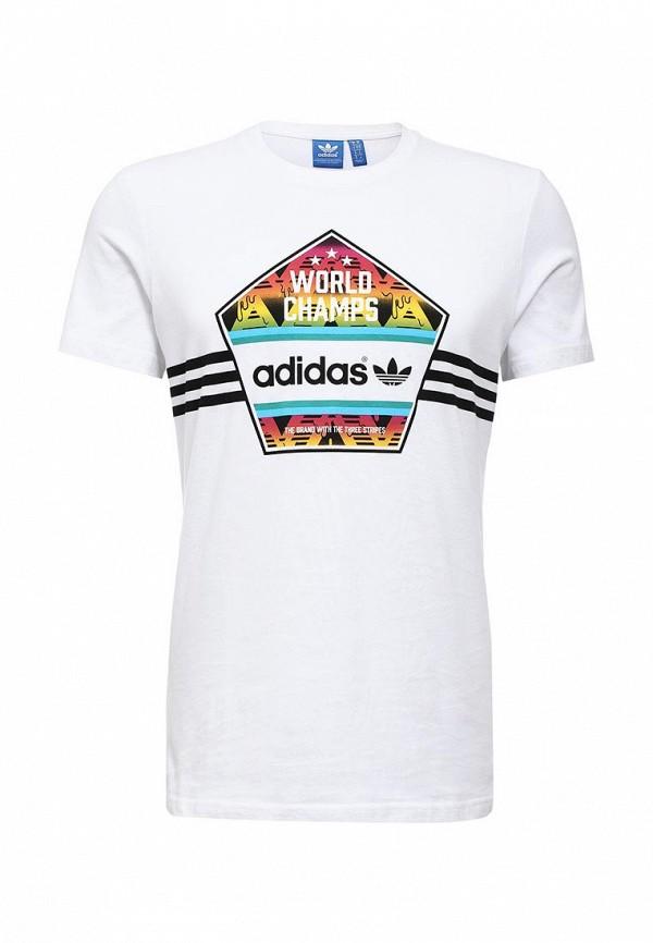 Футболка с надписями Adidas Originals (Адидас Ориджиналс) AJ7156