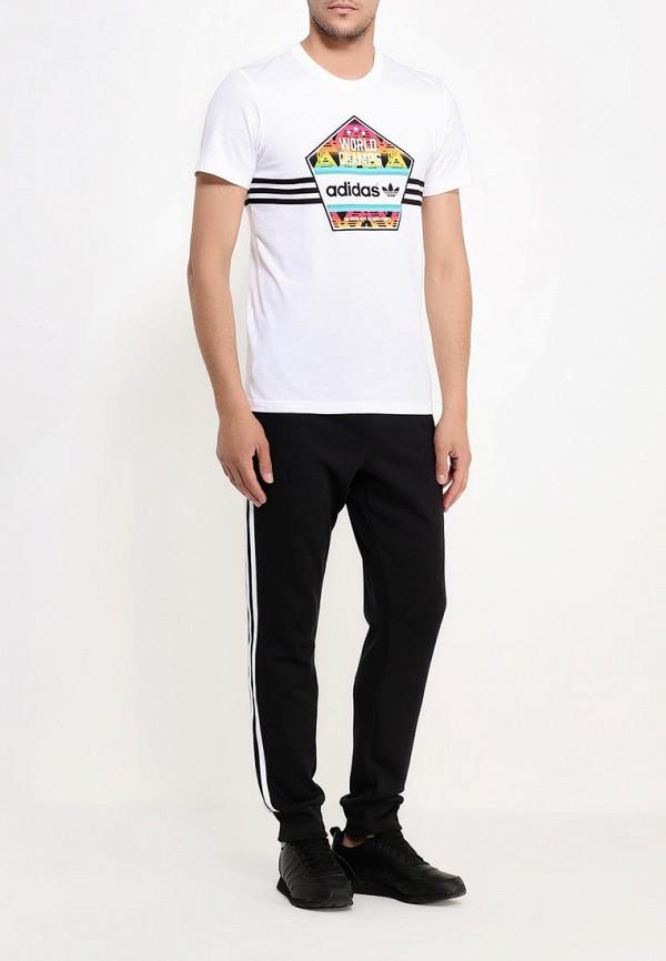 Футболка с надписями Adidas Originals (Адидас Ориджиналс) AJ7156: изображение 2