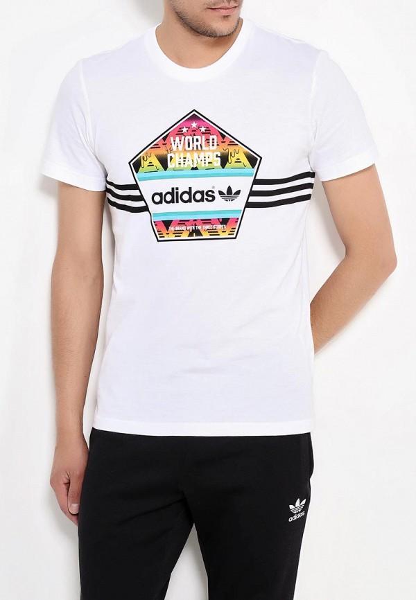 Футболка с надписями Adidas Originals (Адидас Ориджиналс) AJ7156: изображение 3
