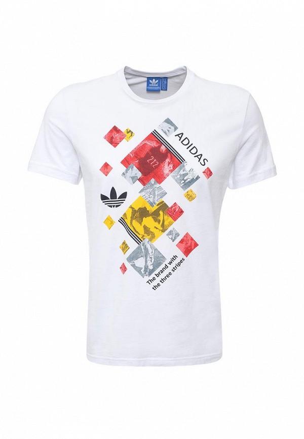 Футболка с надписями Adidas Originals (Адидас Ориджиналс) AJ7160