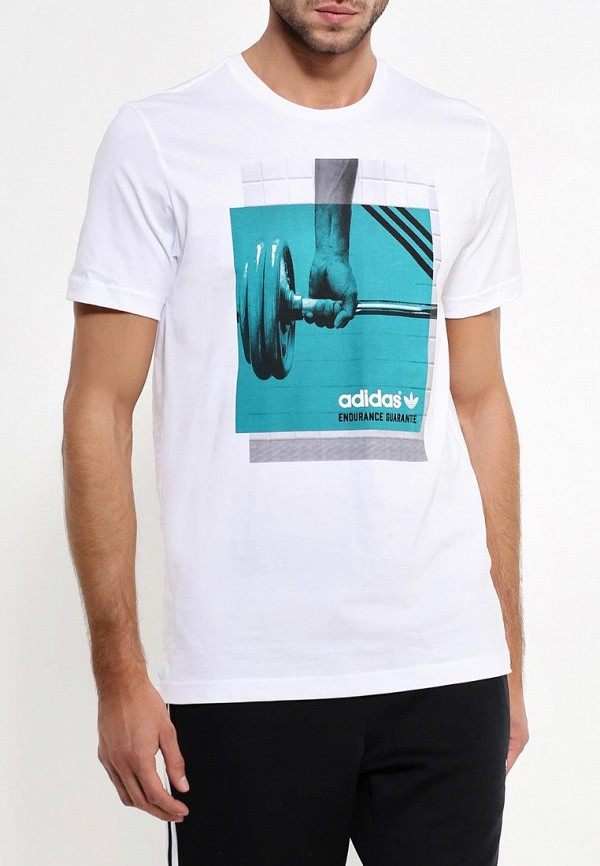 Футболка с фотопринтами Adidas Originals (Адидас Ориджиналс) AJ7183: изображение 3