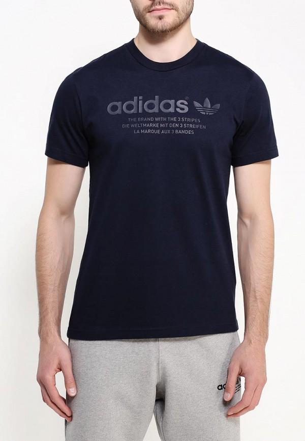 Футболка с надписями Adidas Originals (Адидас Ориджиналс) AJ7237: изображение 4