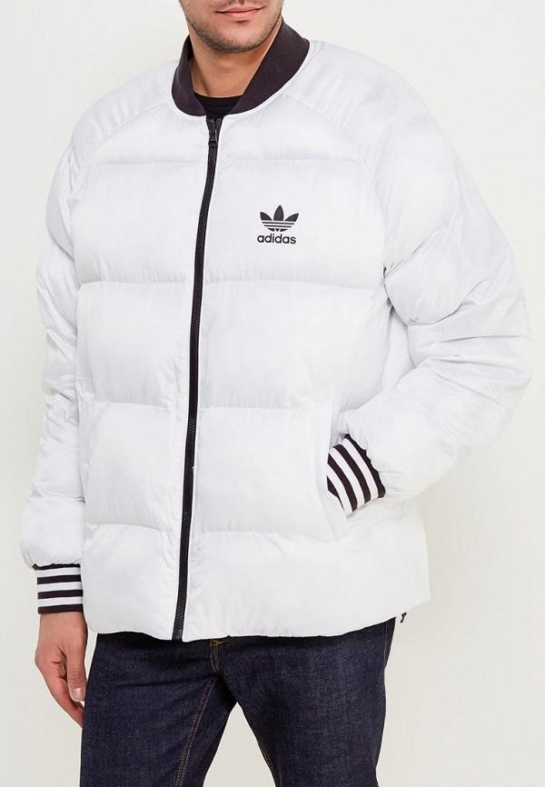 Куртка утепленная adidas OriginalsКуртка утепленная adidas Originals. Цвет: белый, черный. Сезон: Осень-зима 2017/2018. С бесплатной доставкой и примеркой на Lamoda.<br><br>Цвет: белый, черный<br>Коллекция: Осень-зима 2017/2018<br>Сезонность: демисезон, зима<br>Страна-изготовитель: Китай<br>Пол: men
