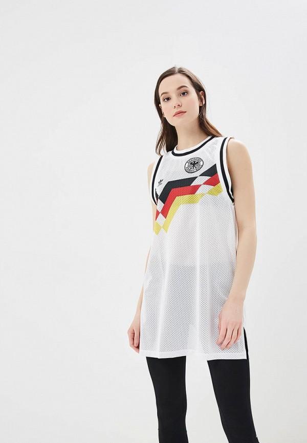 Купить Платье adidas Originals, adidas Originals AD093EWALOQ4, белый, Весна-лето 2018