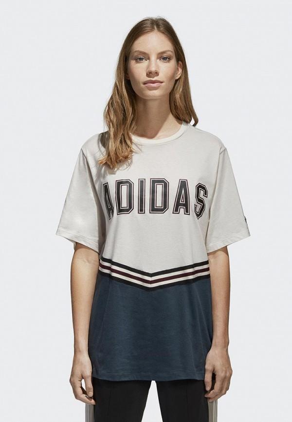 Купить Футболка adidas Originals, adidas Originals AD093EWALOU5, серый, Весна-лето 2018