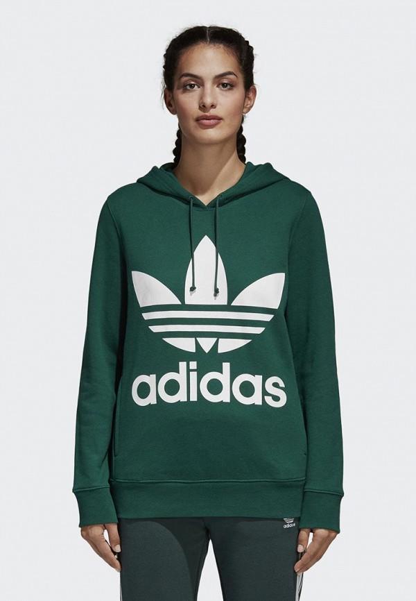 Худи adidas OriginalsХуди adidas Originals. Цвет: зеленый. Сезон: Весна-лето 2018. С бесплатной доставкой и примеркой на Lamoda.<br><br>Цвет: зеленый<br>Коллекция: Весна-лето 2018<br>Сезонность: мульти<br>Страна-изготовитель: Пакистан<br>Пол: women