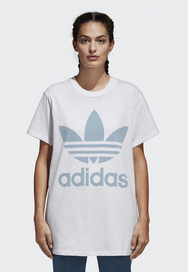 Купить Футболка adidas Originals, adidas Originals AD093EWALOX7, белый, Весна-лето 2018